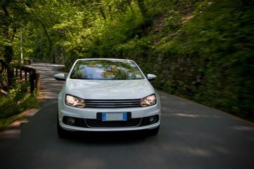 Fototapete - car driving fast