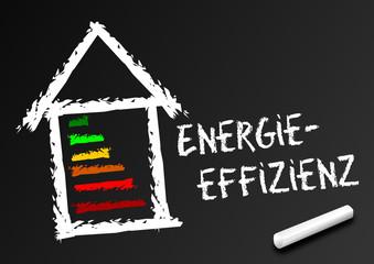 Tafel - Energieeffizienz beim Hausbau