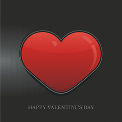 Heart Valentine's day vector background