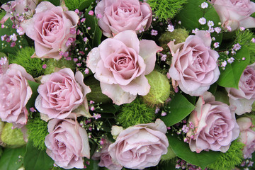 Bridal bouquet with lilac roses