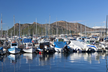 Harbour in Cartagena, Spain