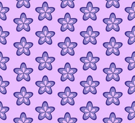 Violet-colored flowers on purple background