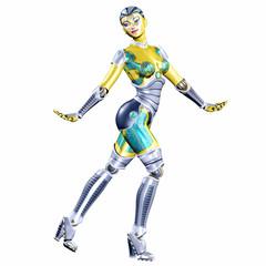 Female Robot Posing
