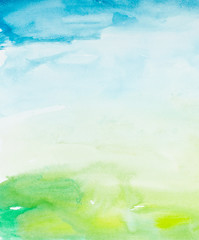 color strokes watercolor painting art