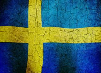 Grunge Sweden flag