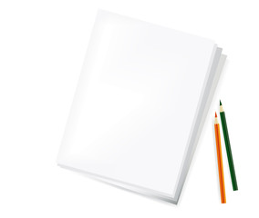 Blank paper and pencils