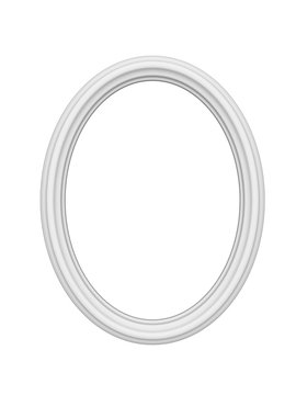 Empty white picture or photo art frame