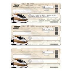 Billet de train modèle de carte