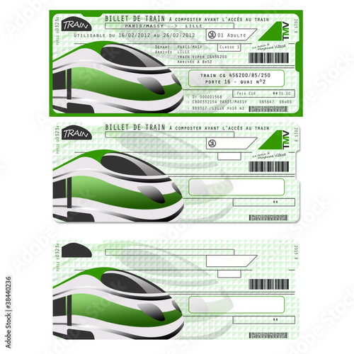Billets De Train Factices Template