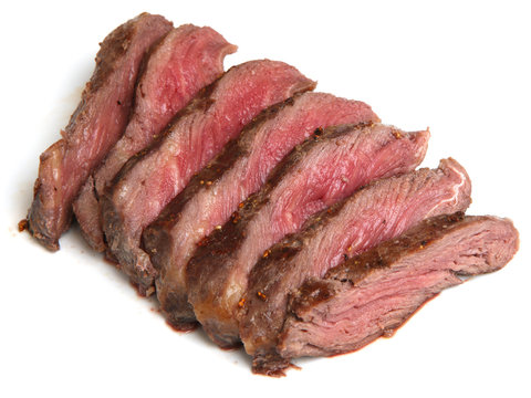 Rare Fillet Steak Sliced