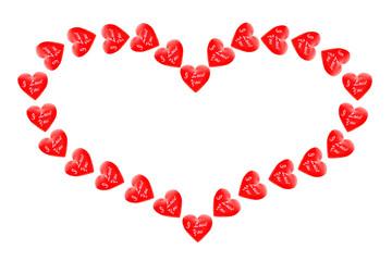 Valentine on a white background