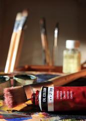 Blick ins Malerstudio