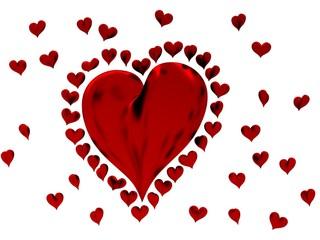 Coeurs 3d Saint Valentin