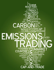 "Word Cloud ""Emissions Trading"""