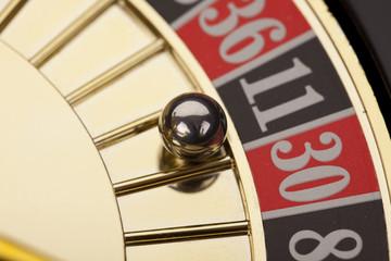 Macro shot of roulette