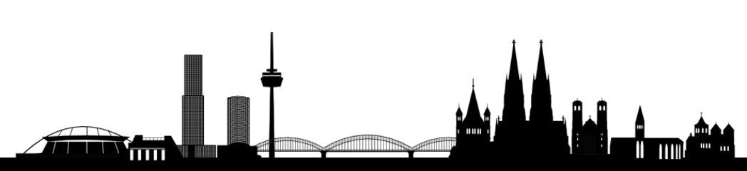 Kölner Skyline - detailliert