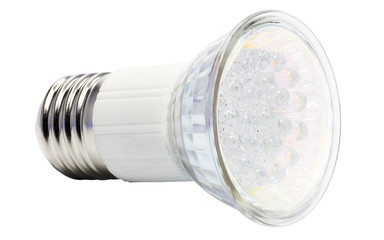 Energy-saving LED bulb. Isolated on a white field.