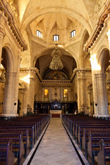 Interior of the Havana Cathedral