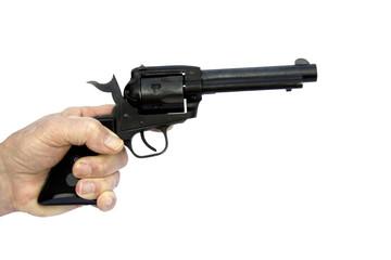 revover pistol isolated