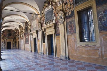 Archiginnasio of Bologna. Emilia-Romagna. Italy.
