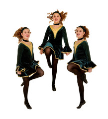 Irish Dancers Trio Performing