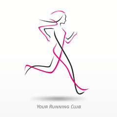 logo running, running