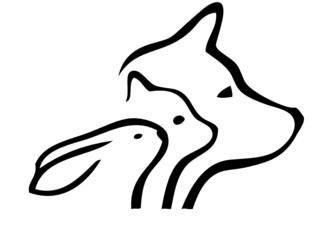 Cat dog and rabbit logo