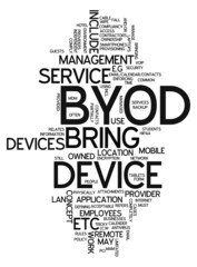 "Word Cloud ""BYOD - Bring Your Own Device"""