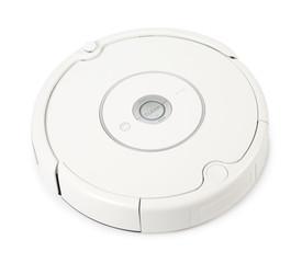 White Robot Vacuum Cleaner