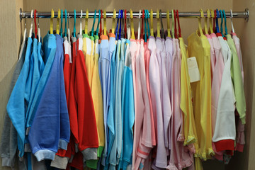 Clothes at store