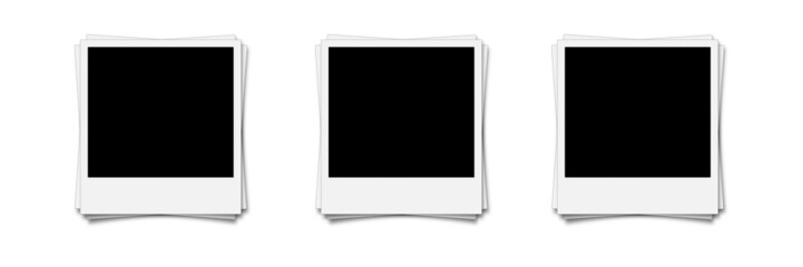 Polaroid Stapel Collage