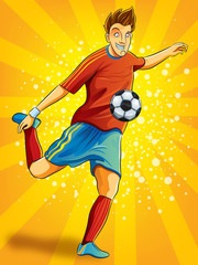 Soccer Player Shooting a Ball (EPS 10 file version)