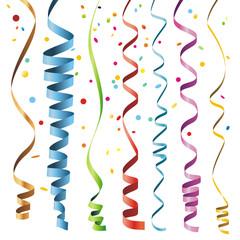 Multicolor Curling Stream