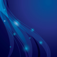 abstract background with transparent curved lines - vector