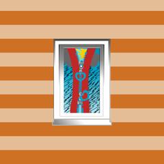 Illustration of a window