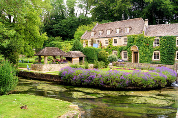 Wall Mural - Cotswold village of Bibury, England