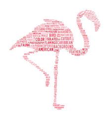 flamingo text clouds