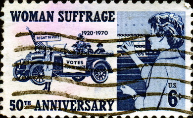Woman Suffrage. 1920 - 1970. US Postage.