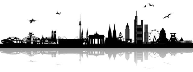 Skyline Deutschland mit Schatten