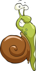Cartoon snail