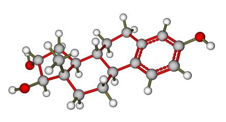 Sex hormone estriol molecule