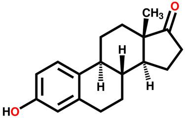 Sex hormone estrone structural formula