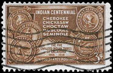 USA - CIRCA 1948 Indian Territory
