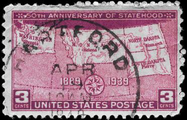 USA - CIRCA 1939 Statehood