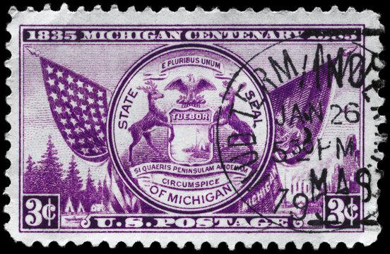 USA - CIRCA 1935 Michigan State Seal