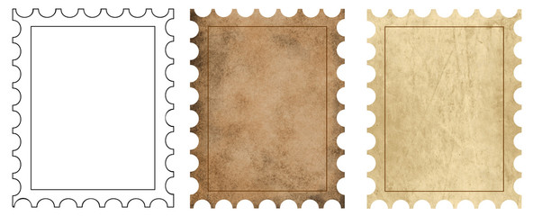3 postage backgrounds