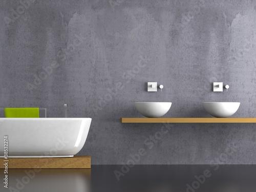 wohndesign bad mit lila wand stockfotos und. Black Bedroom Furniture Sets. Home Design Ideas