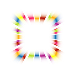 Rainbow explosion celebration frame vector.
