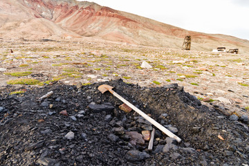 Isole Svalbard, miniera di carbone a cielo aperto