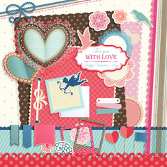 Wall Mural - Valentine`s Day